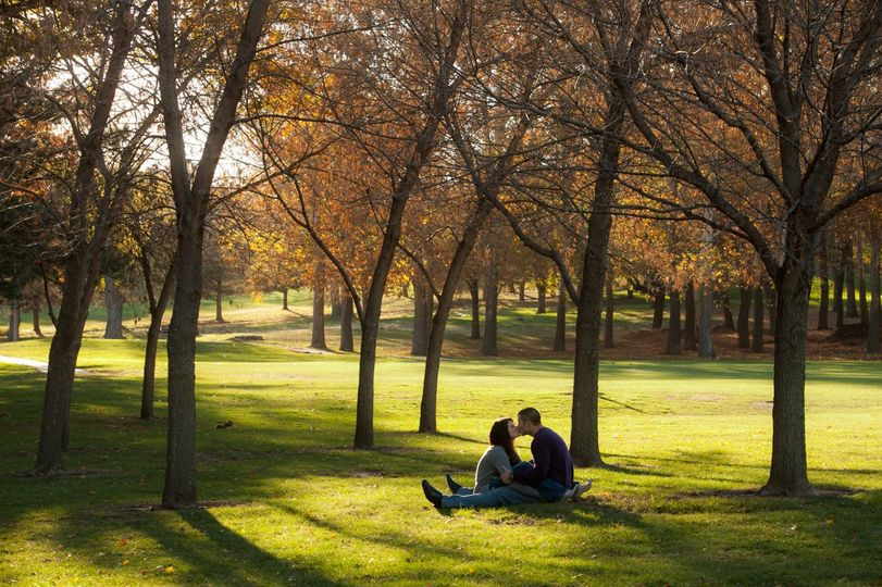 Fall Engagement Session with a very spontaneous and easy going couple. The location was Elmwood Park...