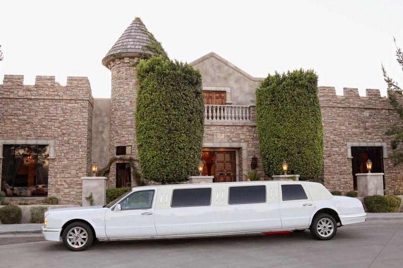 Long white limo