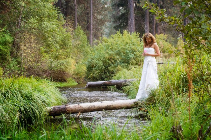 By the Creek at Lake Creek Lodge in Camp Sherman, Metolius River area, Central Oregon....