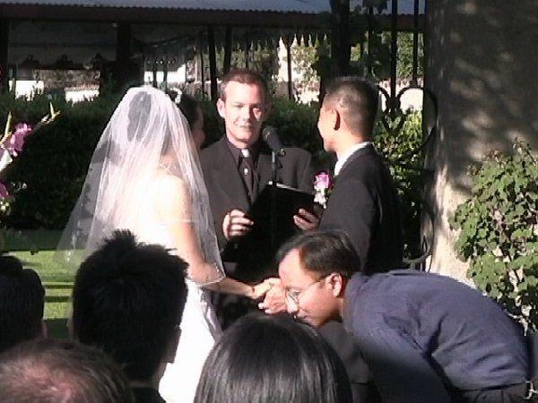 a beautiful outdoor wedding at San Gabriel Misson