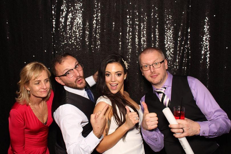 Black sequin photo booth
