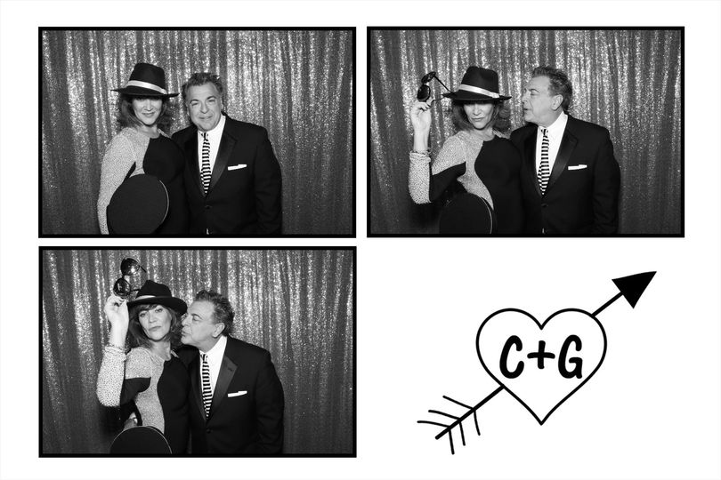Black & white photo booth