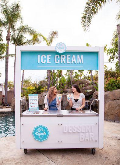 The ice cream stand