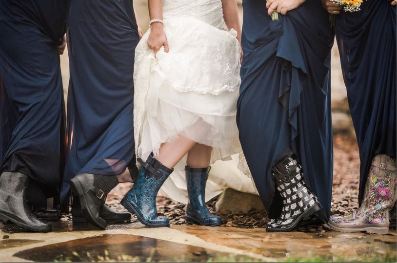 Sexy galoshes and best friends, what more does a girl need.