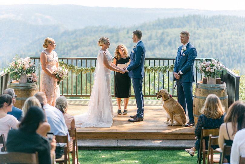Covid-downsized wedding!