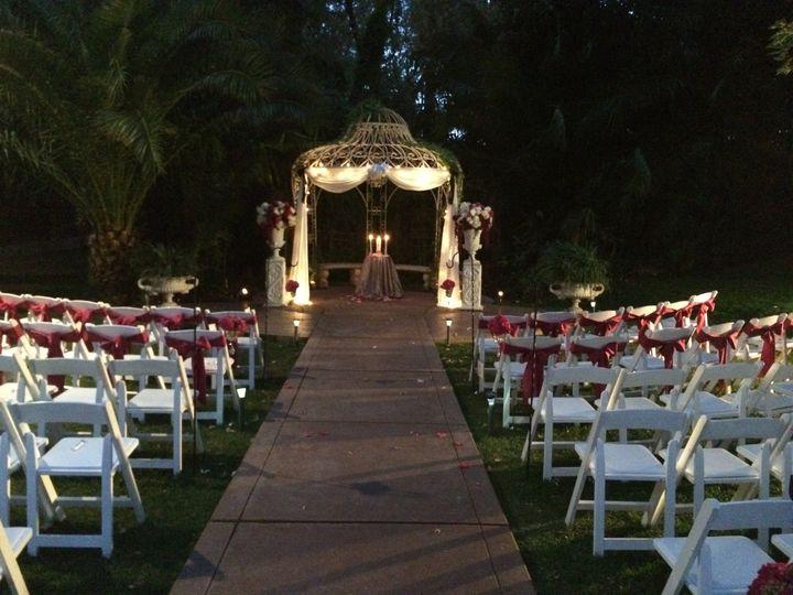 Grand Island Mansion wedding setup