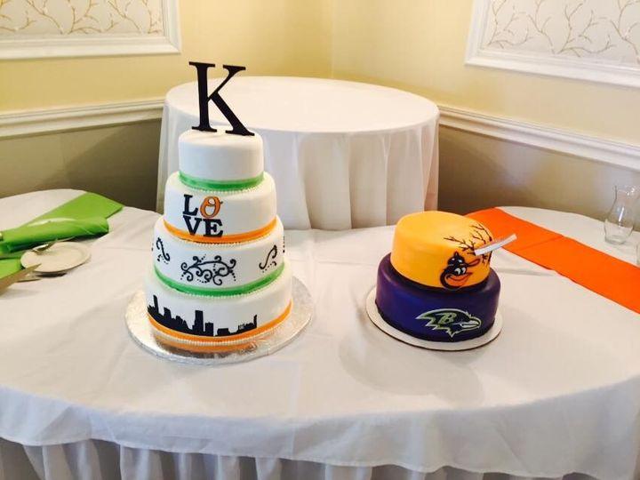 Tmx 1436988694089 Skyline Cake And Grooms Cake White Marsh, MD wedding cake