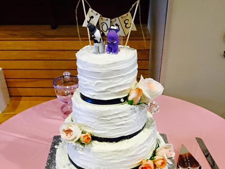 Tmx 1436988697019 3 Tier Rustic Iced White Marsh, MD wedding cake