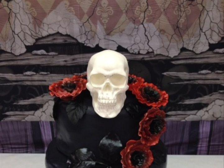 Tmx 1436989154110 Black Skull White Marsh, MD wedding cake