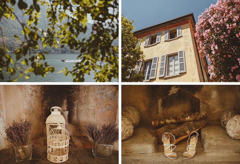 images showing lake como an italian villa and wedd