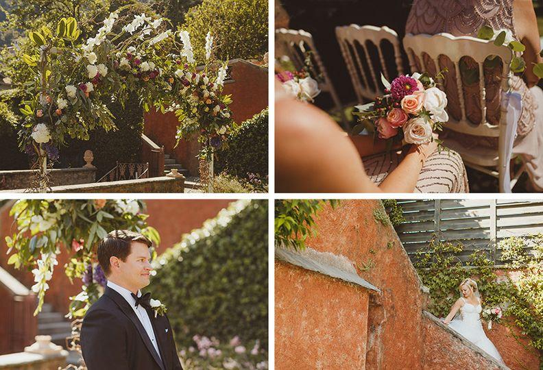 photographs of a wedding on lake como at villa reg