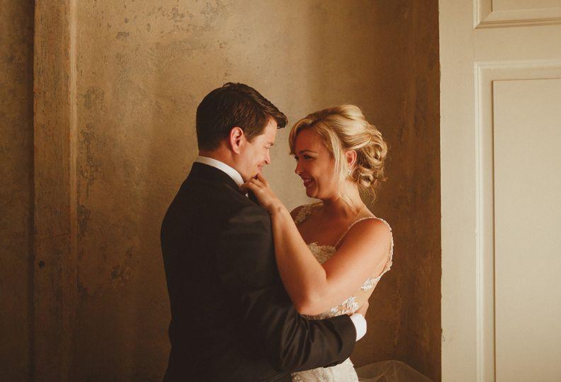 bride and groom before their lake como wedding cer