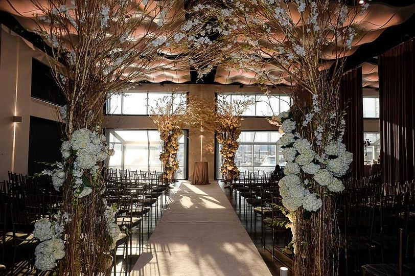 A wedding aisle