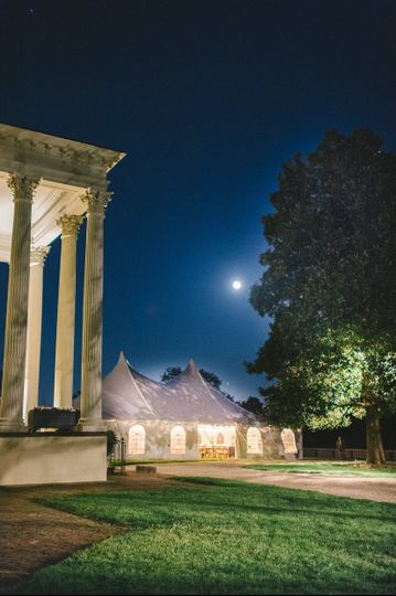 Front Lawn wedding at night