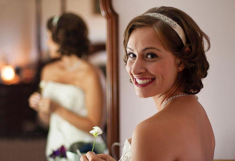 Smiling bride - Carl Walsh Weddings