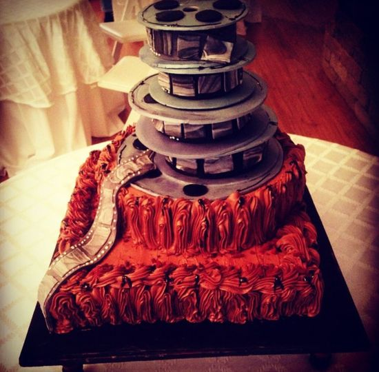 Film wedding cake