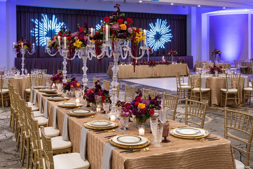 Reception table setup