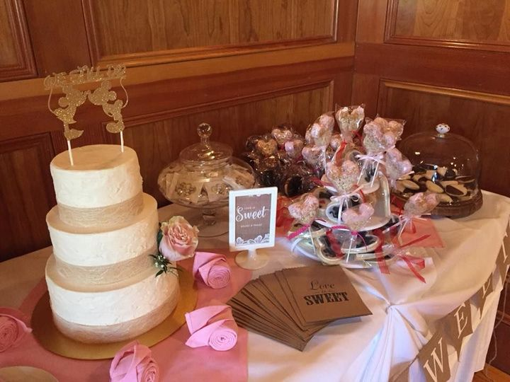 Anna and Zachary's Sweet Table at Tewksbury Country Club