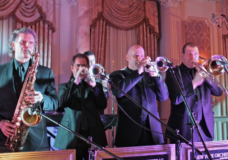Central park orchestra horn section - this pic was taken one week after they played with the allman...