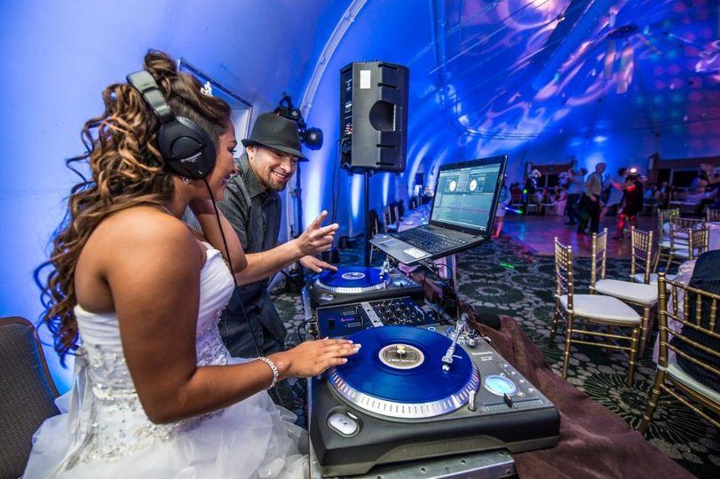 Bride spinning tracks