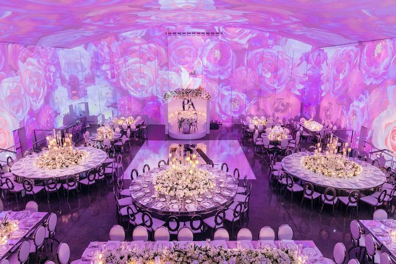 Wedding Reception with Mapping