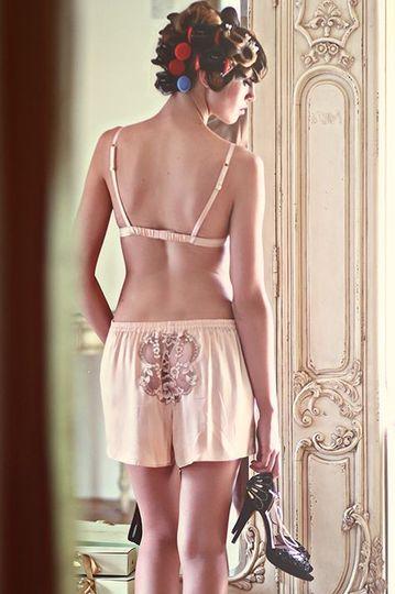 Lingerie Silk Shorts