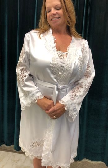 Bridal Robes with Lace