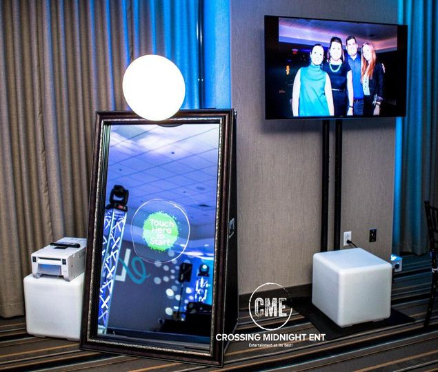 Love photo-booths? We have the newest version! It's a mirror booth! Touch screen, animation, comes...