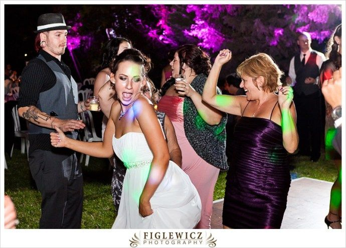 Bride backin' it up on dance