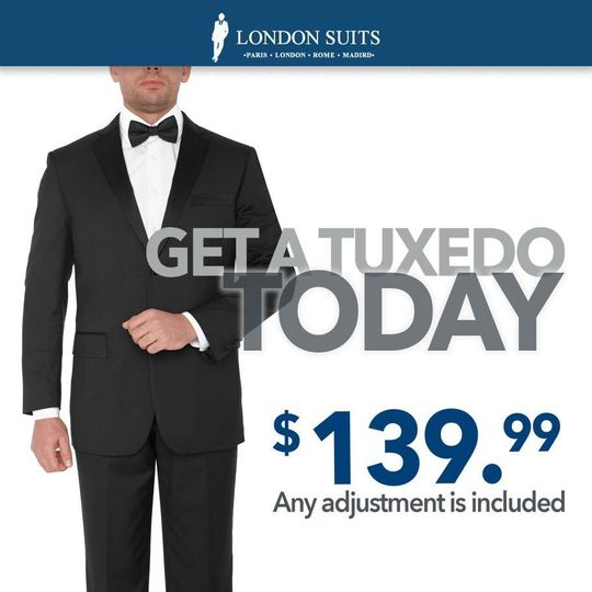 Don't Rent a Tuxedo Anymore, Own it for Only $139.99* Alterations Included