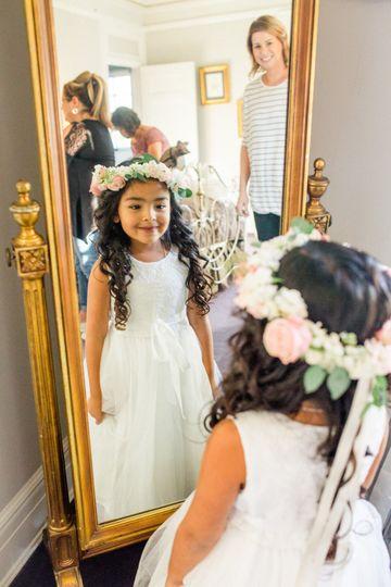 Flower girl floral crown. Photo by Alex Dzhumara Photographer.