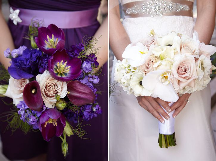 Bridesmaid and Bridal Bouquet. Photo by Meagan Lucy.