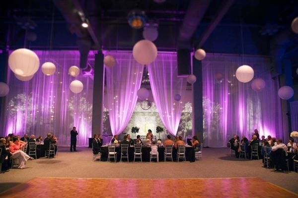 Exhibit hall wedding