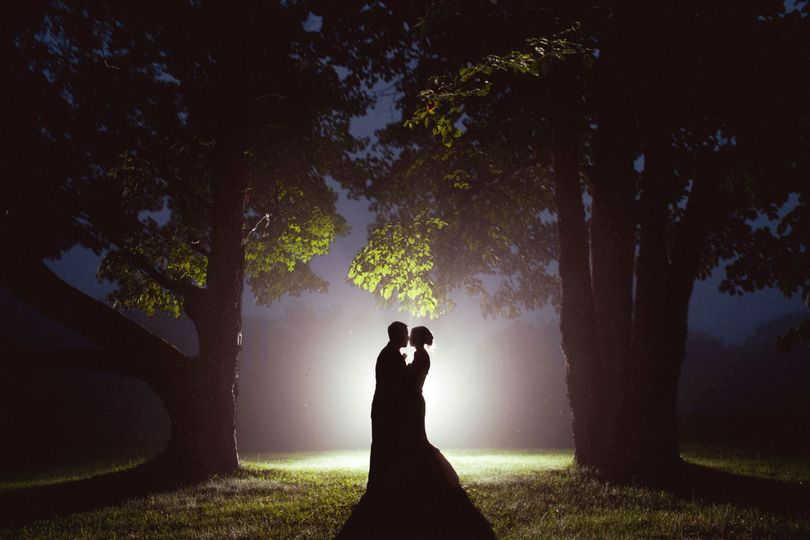 Couple's silhouette