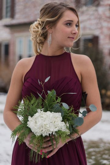 Winter bridesmaid