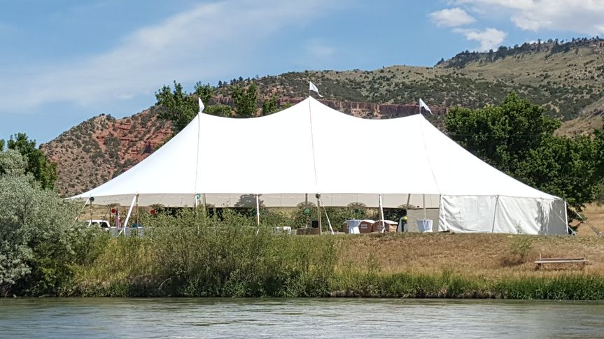 Large white tent