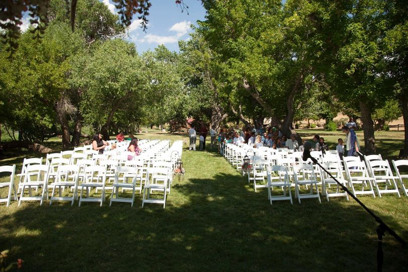 Chairs for the ceremony