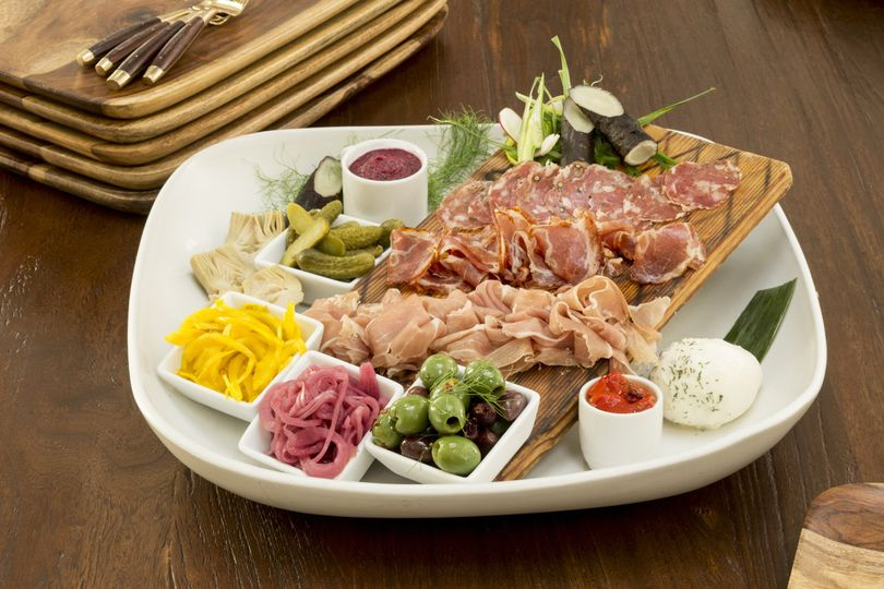 a small charcuterie platter
