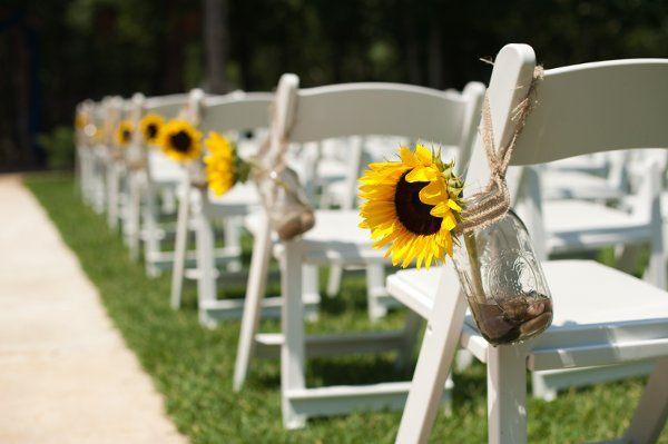 Sunflower aisle decoration