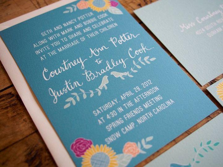Tmx 1357741320209 PotterCookInvite Durham wedding invitation