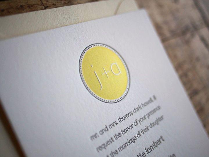 Tmx 1358869021149 ModernMonogramLetterpressKnockOut Durham wedding invitation