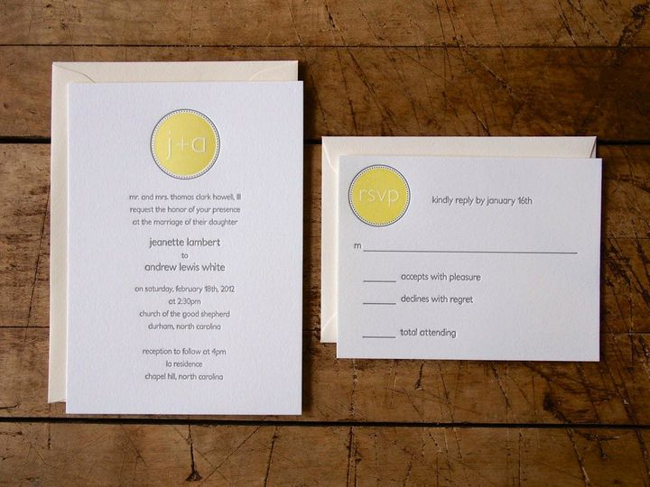 Tmx 1358869343604 ModernMonogramLetterpressFull Durham wedding invitation