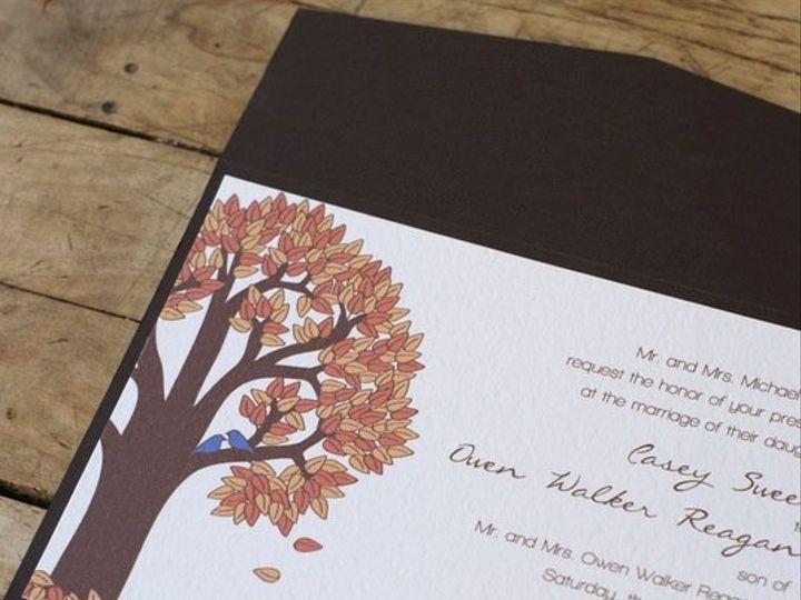 Tmx 1358869459768 EtsyHannahpocketfoldopen Durham wedding invitation