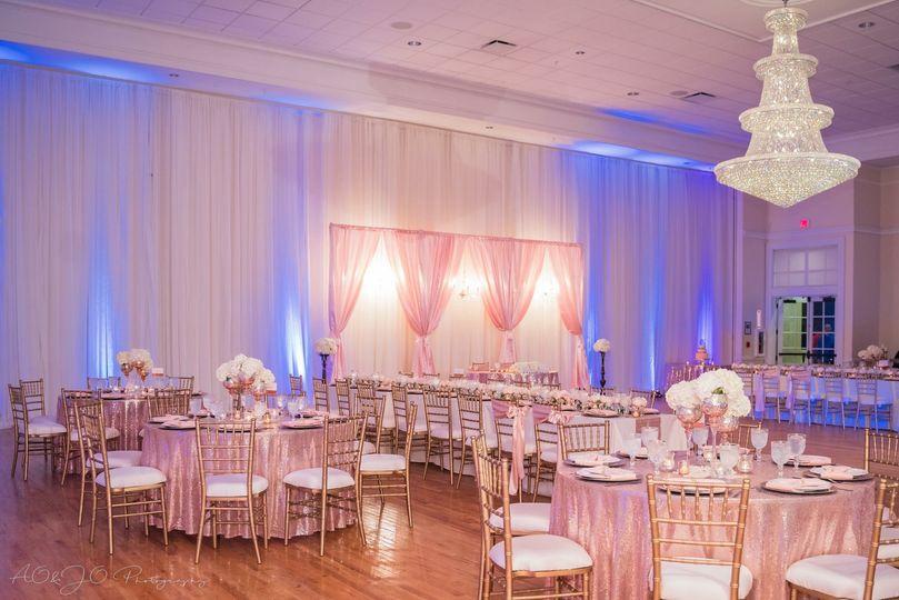 Pipe and drape decor