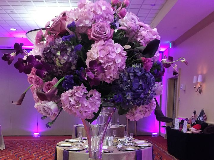 Tmx 1465429960037 Mix Purple Fresh Centerpice Tampa, FL wedding planner
