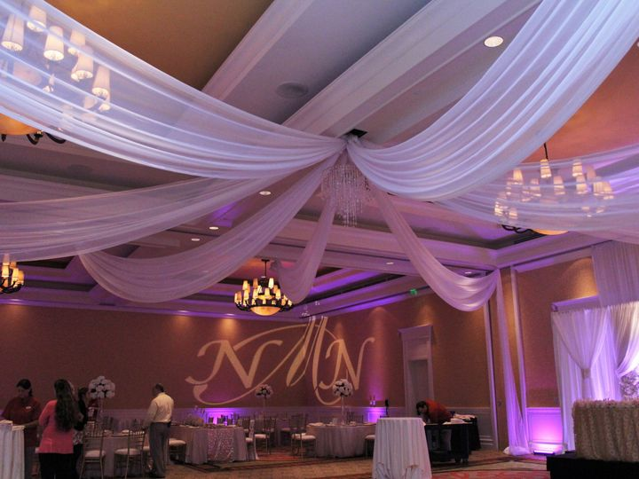 Tmx 1465430290551 8 Panes Ceiling Drape Sand Peal Tampa, FL wedding planner