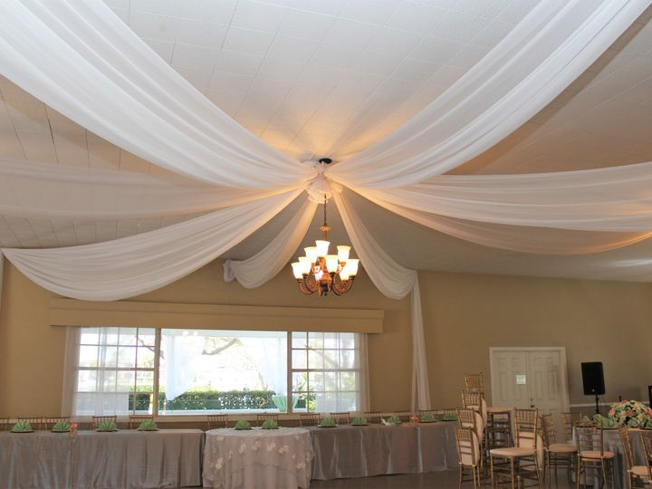 Tmx 1465430683655 Ceiling Drape David Island Garden Club Tampa, FL wedding planner