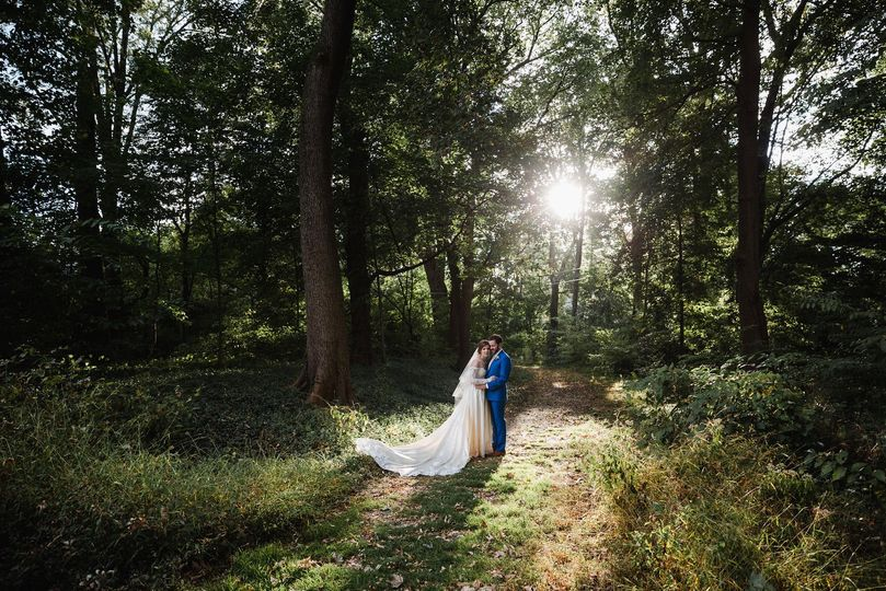 Newlyweds in the woods | Love Me Do Photography