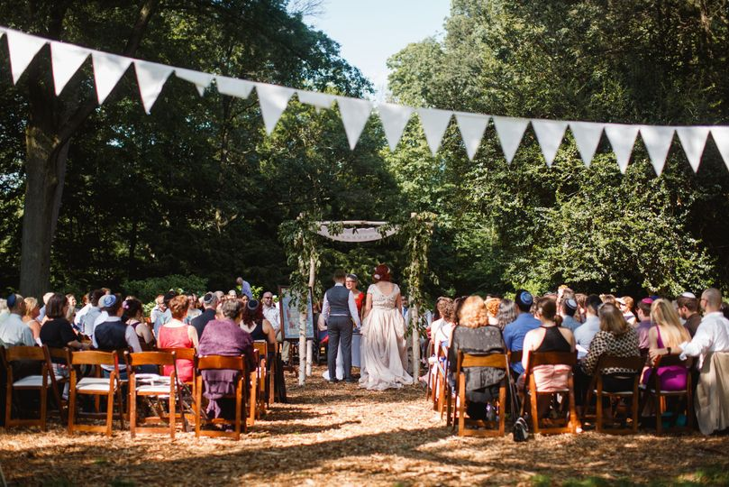 Ceremony space on Awbury' grounds, choose from several lovely locations!