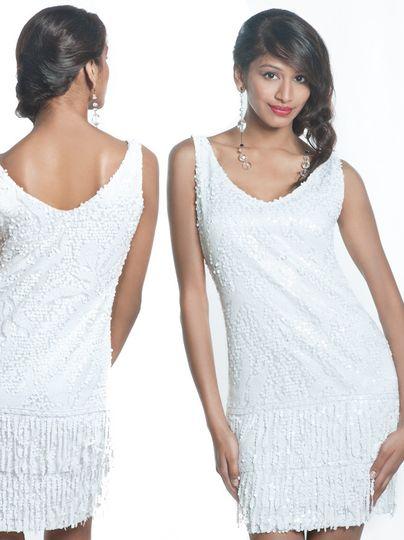 cc white flapper dress